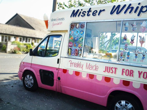 Daisy Bell - Vintage Ice Cream Van, the latest addition to Mister Nice Cream's Ice Cream Van fleet in Great Britain (UK).